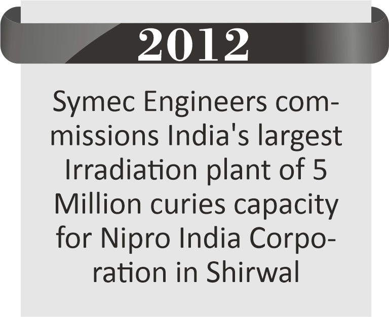 India's Largest Irradiation Plant built by Symec Irradiation Pvt. Ltd.