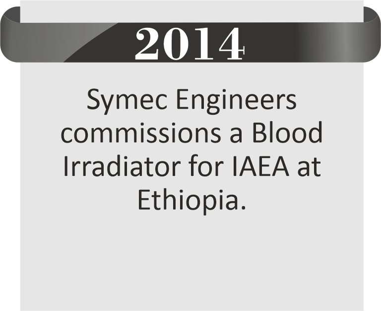 Blood Irradiator for IAEA at Ethiopia By Symec Engineers Pvt. Ltd.